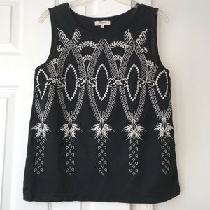 Madewell Aztec Embroidered Eyelet Tank Top